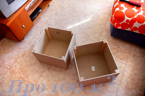 Пуфики с ящиками своими руками