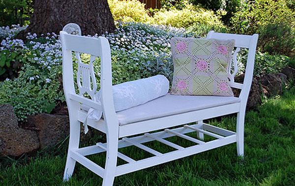 скамейка для дачи, как сделать скамейку,скамейка из стульев