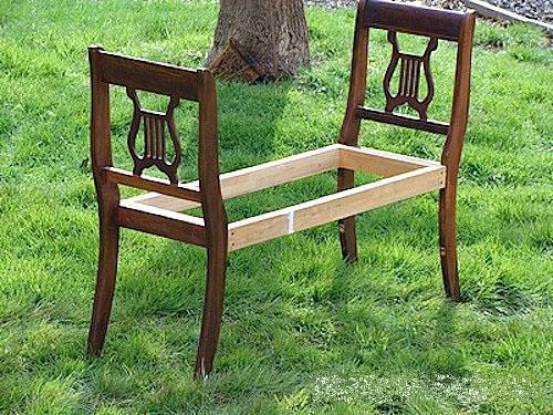 Как сделать скамейку из кресел