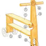 деревянный самокат,как сделать самокат,самокат